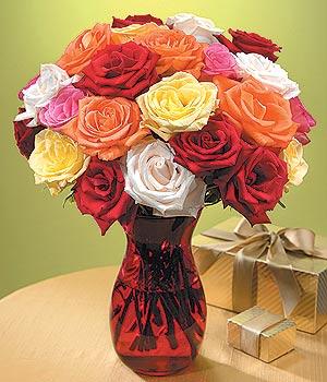 Gölbaşına çiçek , çiçekçi , çiçekçilik  13 adet renkli gül