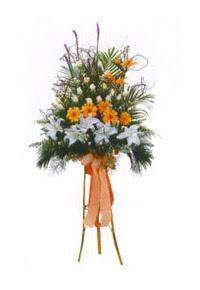 Gölbaşı çiçekçiler  çiçek siparişi sitesi  Kazablanka, gerbera ve güllerle hazirlanmis ferfor