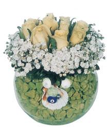 Gölbaşı çiçek yolla online çiçekçi , çiçek siparişi  9 adet beyaz gül cam yada mika içerisinde