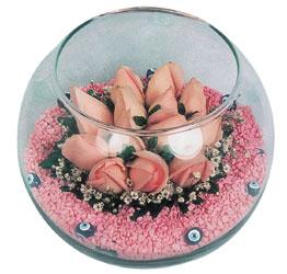 Gölbaşı çiçek siparişi yurtiçi ve yurtdışı çiçek siparişi  cam fanus içerisinde 10 adet gül