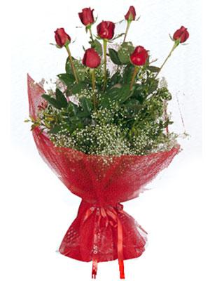 Çiçekçi Gölbaşı çiçekçi mağazası  7 adet gülden buket görsel sik sadelik