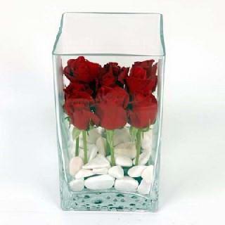 Gölbaşı çiçek yolla online çiçekçi , çiçek siparişi  7 adet kirmizi gül cam yada mika vazo içinde