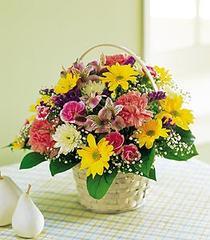 Gölbaşı çiçek yolla online çiçekçi , çiçek siparişi  Karisik mevsim sepeti sevenlere