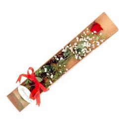 Gölbaşı çiçek online çiçek siparişi  Kutuda tek 1 adet kirmizi gül çiçegi