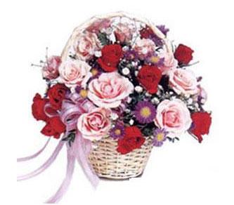 Gölbaşı çiçek yolla online çiçekçi , çiçek siparişi  Karisik gül sepeti 13 adet gül güller