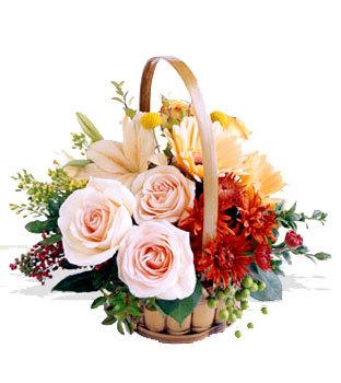 Gölbaşı çiçekçi telefonları  Orta boy Karisik mevsim çiçeklerinden sepet