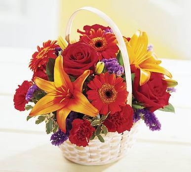 Gölbaşı çiçek yolla online çiçekçi , çiçek siparişi  Sepet içerisinde mevsim çiçekleri
