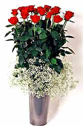 Gölbaşı Ankara çiçek yolla  9 adet kirmizi gül cam yada mika vazoda