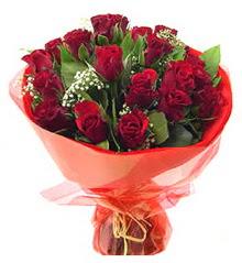 Gölbaşına çiçek , çiçekçi , çiçekçilik  11 adet kimizi gülün ihtisami buket modeli