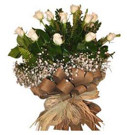 Gölbaşı anneler günü çiçek yolla  9 adet beyaz gül buketi