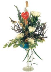 Gölbaşı çiçek gönder cicekciler , cicek siparisi  kadeh içerisinde görsel gül tanzimi
