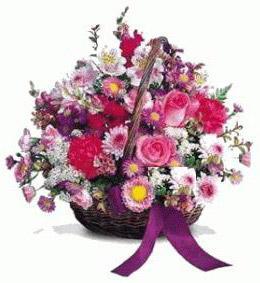 Gölbaşı çiçek gönder cicekciler , cicek siparisi  Karisik kir çiçeklerinden sepet tanzimi