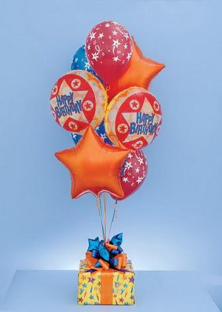 Gölbaşı çiçek gönder cicekciler , cicek siparisi  19 adet uçan balon ve küçük kutuda çikolata