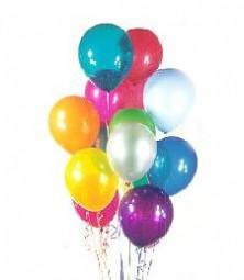 Ankara Gölbaşı hediye sevgilime hediye çiçek  19 adet karisik renkte balonlar