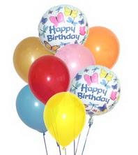 ankara Gölbaşı çiçek mağazası , çiçekçi adresleri  17 adet karisik renkte uçan balonlar