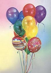 Ankara Gölbaşı hediye çiçek yolla  19 adet karisik renkte uçan balon buketi