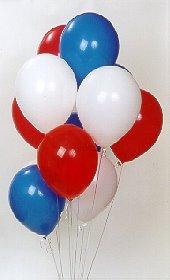 Gölbaşı çiçek yolla online çiçekçi , çiçek siparişi  17 adet renkli karisik uçan balon buketi