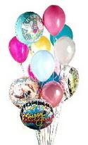 Gölbaşı ankara çiçek gönderme sitemiz güvenlidir  görsel kaliteli 17 uçan balon buketi tanzimleri