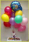 Gölbaşına çiçek , çiçekçi , çiçekçilik  25 adet uçan balon ve 1 kutu çikolata hediye