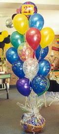 Gölbaşı çiçekçi telefonları  sepet içerisinde çikolata ve 21 adet balon