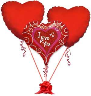Gölbaşı ankara çiçek gönderme sitemiz güvenlidir  3 adet büyük boy kalp uçan balon