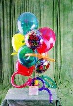 çiçek siparişi Gölbaşı çiçekçiler  karisik görüntüde renkli uçan balon buketi