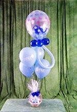 Gölbaşı ankara çiçek gönderme sitemiz güvenlidir  15 adet uçan balon ve küçük kutuda çikolata