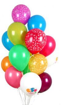 ankara Gölbaşı çiçek mağazası , çiçekçi adresleri  30 adet uçan balon buketi demeti renkli