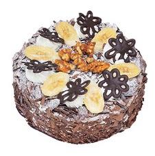 Muzlu çikolatali yas pasta 4 ile 6 kisilik   Gölbaşı çiçekçi telefonları