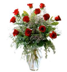 Vazo içerisinde 11 kirmizi gül  Ankara çiçekçi Gölbaşı İnternetten çiçek siparişi