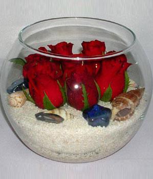 Cam fanus içeirsinde 9 adet kirmizi gül  Ankara çiçekçi Gölbaşı İnternetten çiçek siparişi