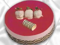 pasta siparisi 4 ile 6 kisilik yas pasta çilekli yaspasta  Çiçekçi Gölbaşı çiçekçi mağazası