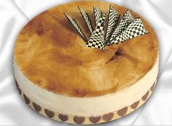 taze pasta 4 ile 6 kisilik yas pasta karamelli yaspasta  Gölbaşı çiçek yolla online çiçekçi , çiçek siparişi