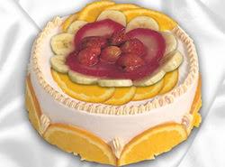 leziz pastane 4 ile 6 kisilik yas pasta meyvali yaspasta  Çiçek yolla Gölbaşı internetten çiçek satışı