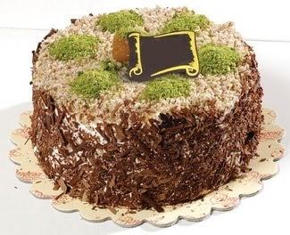 pasta gönderme 4 ile 6 kisilik çikolatali yas pasta  Ankara Gölbaşı hediye sevgilime hediye çiçek