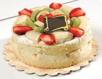pasta siparisi 4 ile 6 kisilik karisik meyvali yas pasta  Çiçekçi Gölbaşı çiçekçi mağazası