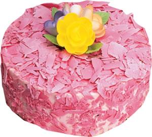 pasta siparisi 4 ile 6 kisilik framboazli yas pasta  Ankara Gölbaşı çiçekçi uluslararası çiçek gönderme