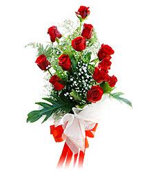 11 adet kirmizi güllerden görsel sölen buket  Ankara çiçekçi Gölbaşı İnternetten çiçek siparişi