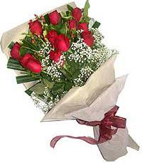 11 adet kirmizi güllerden özel buket  Gölbaşı çiçek yolla , çiçek gönder , çiçekçi