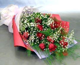 10 adet kirmizi gül çiçegi gönder  Gölbaşına çiçek , çiçekçi , çiçekçilik