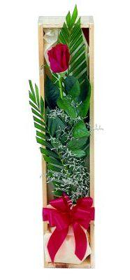 1 adet kutuda kirmizi gül  Gölbaşı çiçek gönder cicekciler , cicek siparisi
