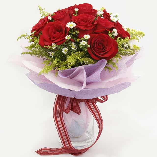 Çiçek gönderme estetikliginiz 11 gül buket  Gölbaşı çiçek kaliteli taze ve ucuz çiçekler