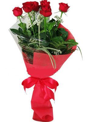 7 adet kirmizi gül buketi  Ankara çiçekçiler Gölbaşı online çiçek gönderme sipariş