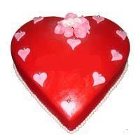 kalp görünümünde yas pasta  Gölbaşı çiçek yolla online çiçekçi , çiçek siparişi
