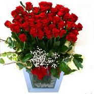 Gölbaşı çiçek yolla , çiçek gönder , çiçekçi    51 adet kirmizi gül aranjmani