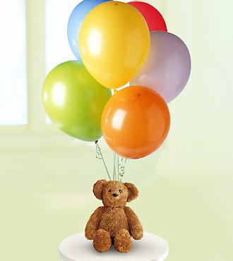 15 adet balon ve ayicik