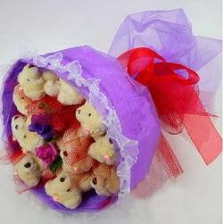 11 adet ayiciktan buket  Gölbaşı çiçek yolla , çiçek gönder , çiçekçi