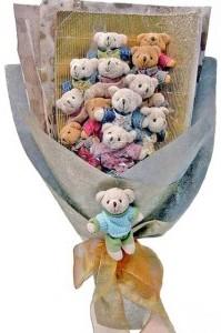 12 adet ayiciktan buket tanzimi  Gölbaşı Ankara çiçek yolla