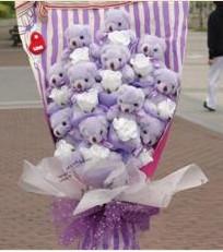 11 adet pelus ayicik buketi  Gölbaşı çiçek gönder cicekciler , cicek siparisi