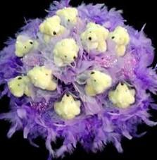 11 adet pelus ayicik buketi  Gölbaşı çiçek online çiçek siparişi